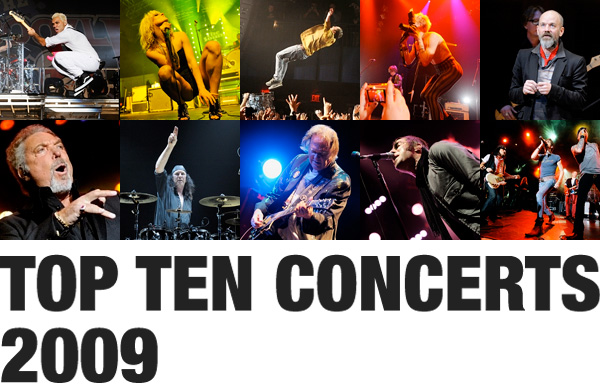 The top 10 Concerts of 2009