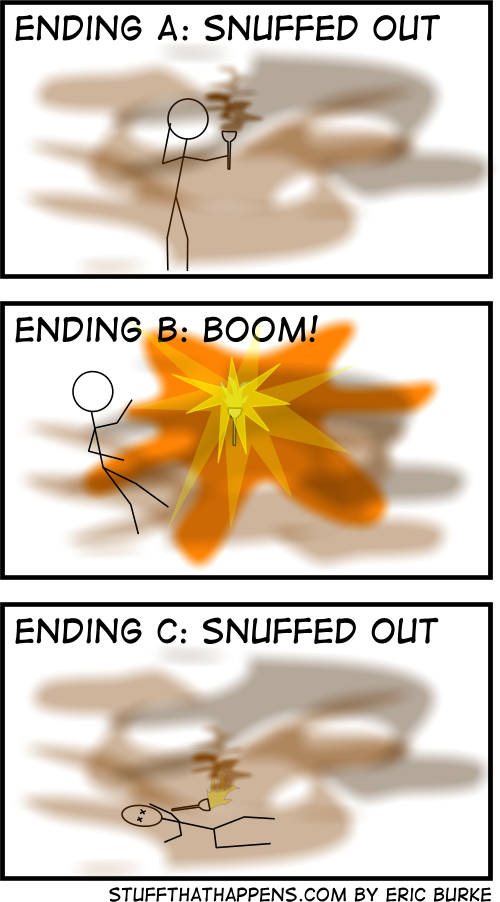 Three possible endings for the China comic