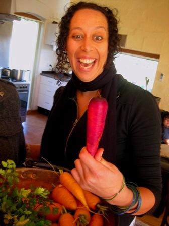pink carrot: