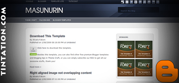 Download Free Blogger Template Masunurin