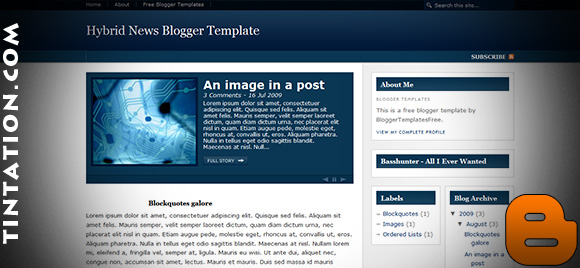 Download Free Blogger Template Hybrid News