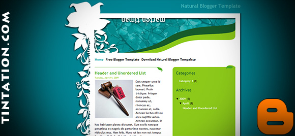 Download Free Blogger Template Natural