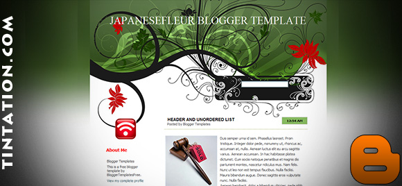 Download Free Blogger Template Japanese Fleur