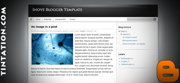Download Free Blogger Template Inove