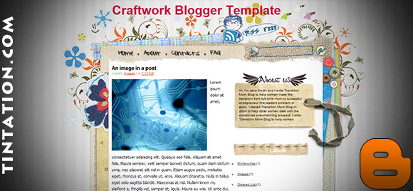 Download Free Blogger Template Craft Work