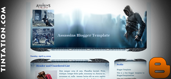Download Free Blogger Template Assassins