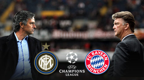 Inter Milan manager Jose Mourinho and Bayern Munich Louis van Gaal