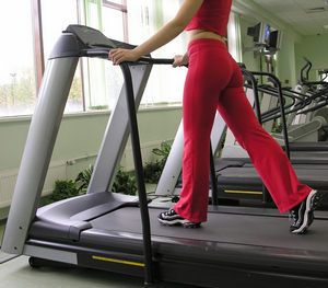 Running on an Electric Treadmill