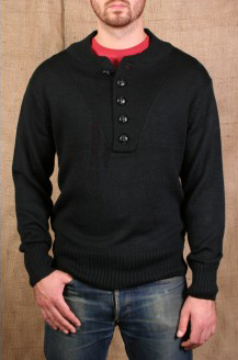 Black Military Sweater