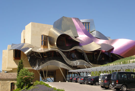 frank gehry - city of wine complex marques de riscal hotel