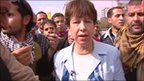 Lyse Doucet in central Cairo
