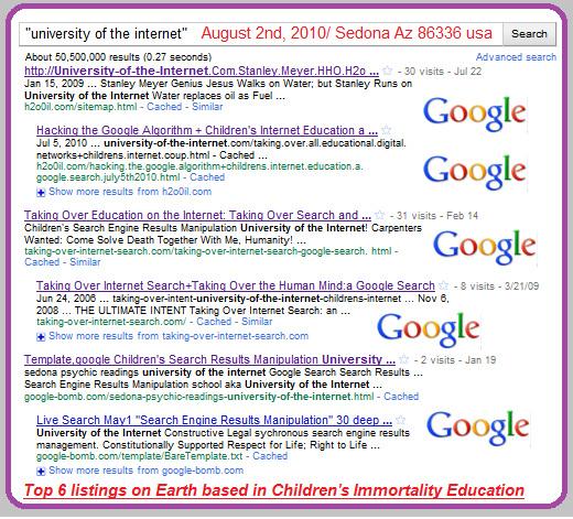 university of   the internet search in Google 8/2/2010 Children's Immortality Education