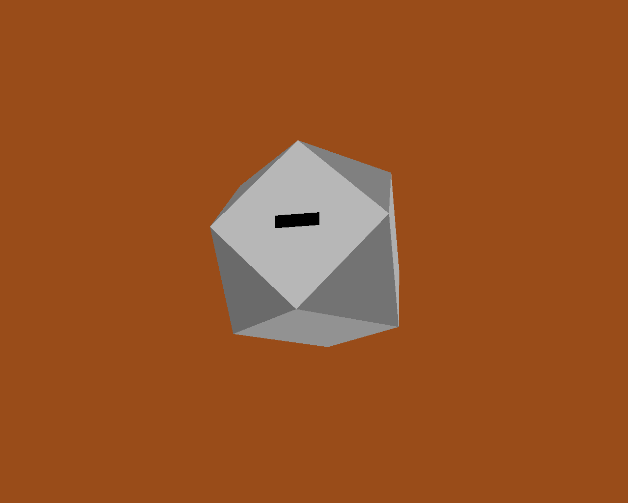 A truncated cube with entrance