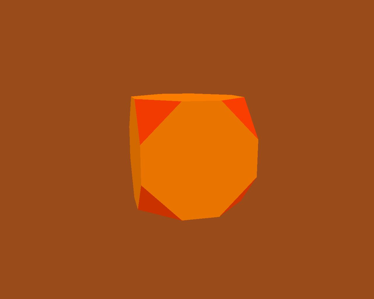 A truncated cube