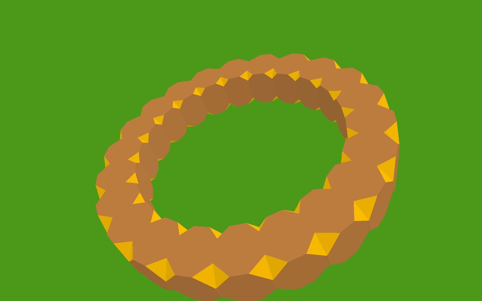 A ring of truncated cubes