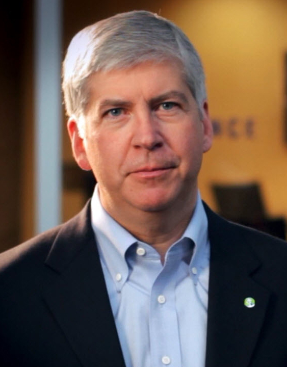 Candidate Rick Snyder