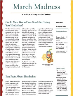 Cardinal Chiropractic Newsletter - March 2007