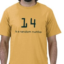 14 is a random number t-shirts