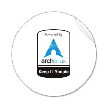 Powered By Arch Linux Round Sticker