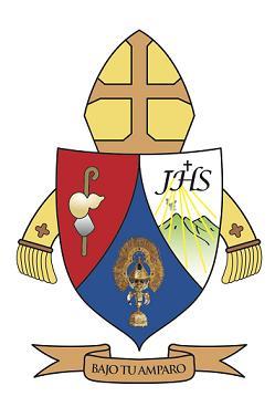 Escudo de Monseñor Ulloa Obispo de la Diócesis de Cartago Costa Rica