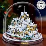 Thomas Kinkade Home For The Holidays Collectible Bell Jar - Exclusive Thomas Kinkade Christmas Village Collectible Bell Jar Brings a Wintry Wonderland to Life with Light, Music, Motion!