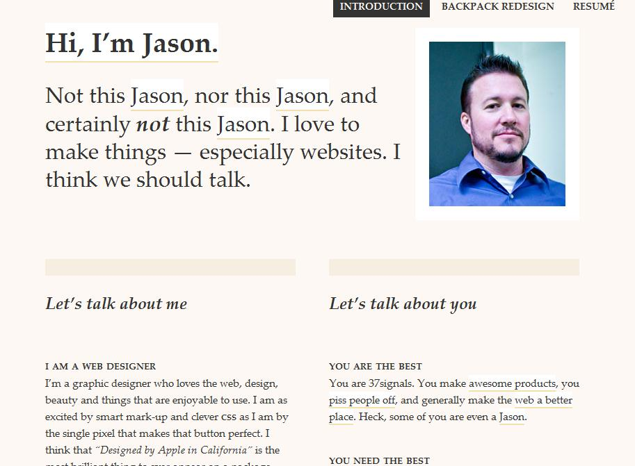 Jasonscreenshot How to Stand Out in Your Job Search. Or in Life. Part I