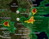 Rain across Palm Beach County at 11 a.m.