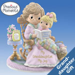 Precious Moments My Granddaughter, My Joy Figurine Gift For Granddaughter - Precious Moments? Grandmother and Child Figurine! Exclusive Collectible is Ideal Grandmother Granddaughter Gift!