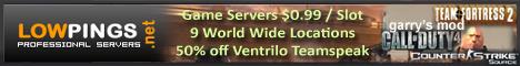 Call of Duty 4 Servers, Counter-Strike Source Servers, Ventrilo Servers, Teamspeak Servers