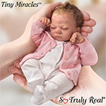 Tiny Miracles Emmy Lifelike Baby Girl Doll: So Truly Real - Tiny Miracle Collectible Lifelike Baby Girl Doll! Realistic Newborn by Artist Linda Webb is JUST 10 INCHES LONG! Exclusive