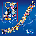 Ultimate Disney Classic Link Charm Bracelet: Disney Jewelry - Disney Charm Bracelet is a Dream Come True! 37 Handcrafted Character Charms Adorn this 24K Gold-plated Link Charm Bracelet!