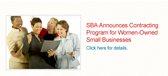 SBA Announces Contracting Program for Women-Owned Small Businesses