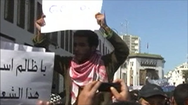 Protest march in Morocco
