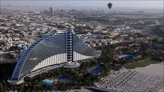 The Jumeirah Beach Hotel in Dubai