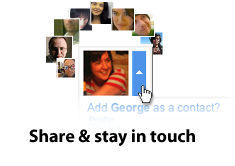 Share & stay in touch