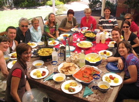 lunch at Greg and Jenny's: