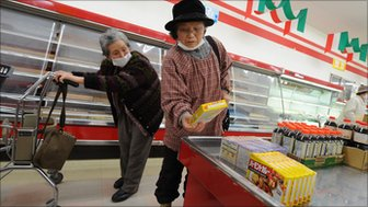 Women shopping in Japan