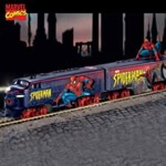 The Amazing Spider-Man Collectible HO Scale Express Train Collection - The Amazing Spider-Man Collectible Express Train Set Includes Free Spider-Man Figurine, Tracks, Power-pack! Exclusive First!
