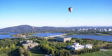 view over Lake Burley Griffin and central Canberra