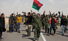 Libyan rebels shout slogans