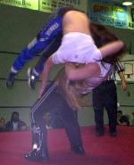 GeeStar with a head-dropping suplex on Amber Holly