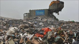 Landfill site in southern England
