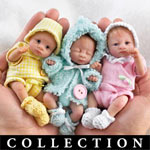 "Heavenly Handfuls Sweet As You Please Poseable Miniature Baby Doll Collection - Exclusive Poseable Baby Doll Collection of Miniature Treasures Each Just 5"" Long! Created by Doll Artist Dorothy Steven"