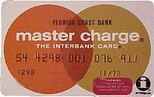 The 1970s Master Charge card.