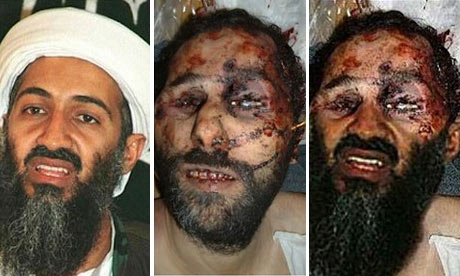 An image purporting to show Osama bin Laden's bloody corpse