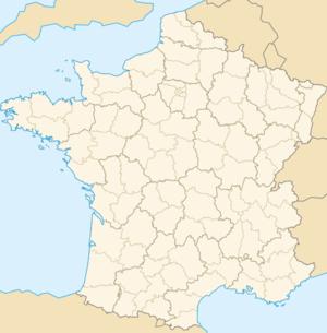 Ubicación de París en Francia
