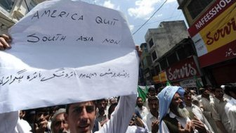 An anti-US protest rally against the US Special forces operation in Abbottabad