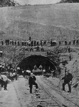 Andrew Carnegie visits the Ray's Hill Tunnel