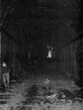 Preliminary work inside the Tuscarora Mountain Tunnel