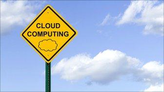Cloud computing warning sign